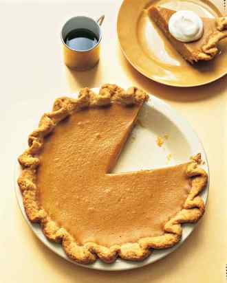 Pumpkin Pie with Fruted Crust